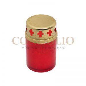 candela plastic rosu cn 02 cu capac