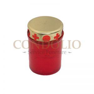 candela plastic rosu cn 03 cu capac