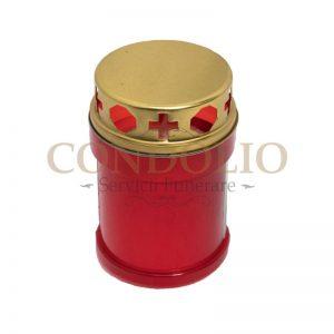 candela plastic rosu cn 05 cu capac