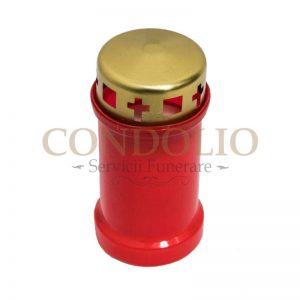 candela plastic rosu cn 07 cu capac