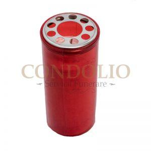candela plastic rosu cn 10 cu capac