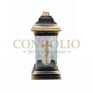 candela sticla incolora cn 15 cu capac